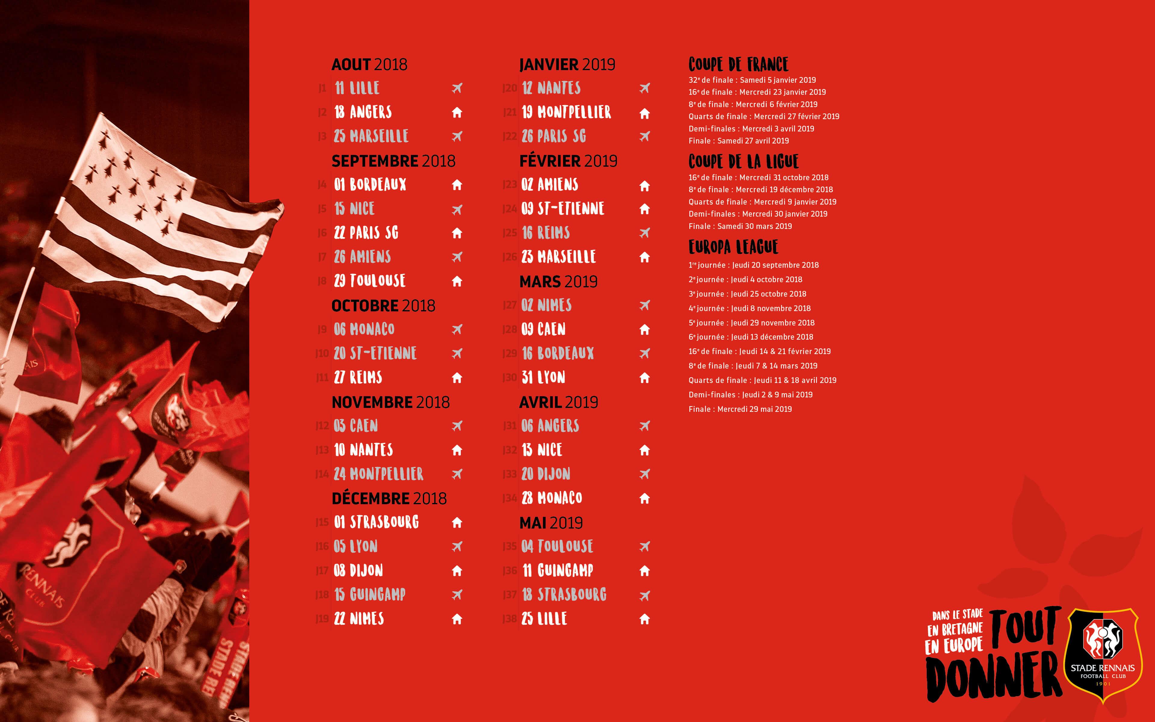 Calendrier Stade Rennais 2021 Calendrier Stade Rennais | Rennes Sport