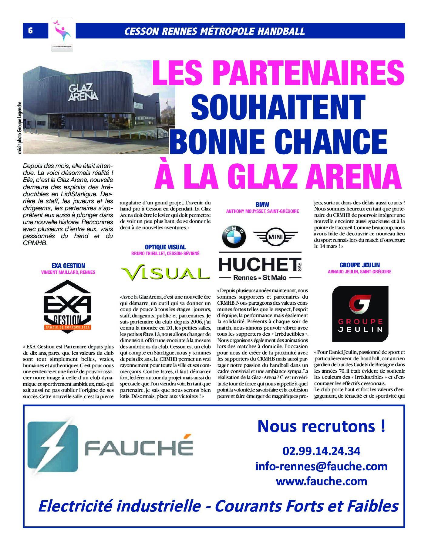 Lidl Starligue Calendrier.Les Partenaires Souhaitent Bonne Chance A La Glaz Arena
