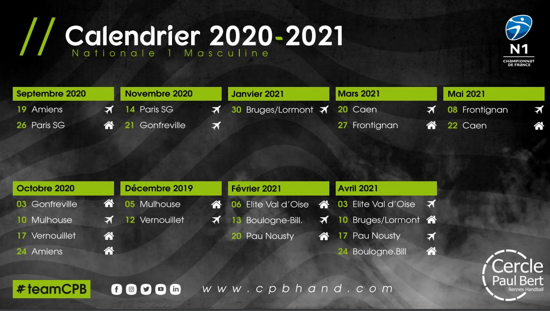 CPB CALENDRIER